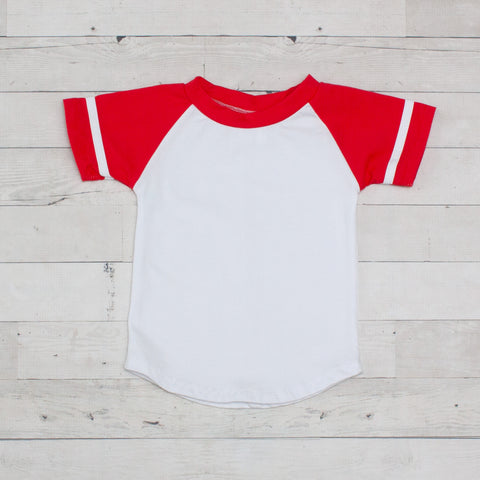 Short Sleeve Raglan T-Shirt - Red