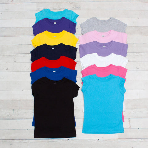 Girls Short Sleeve T-Shirt - 20 Colors to Choose From