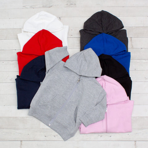 Unisex Colorful Infant Full-Zip Fleece Hoodie - 8 Colors
