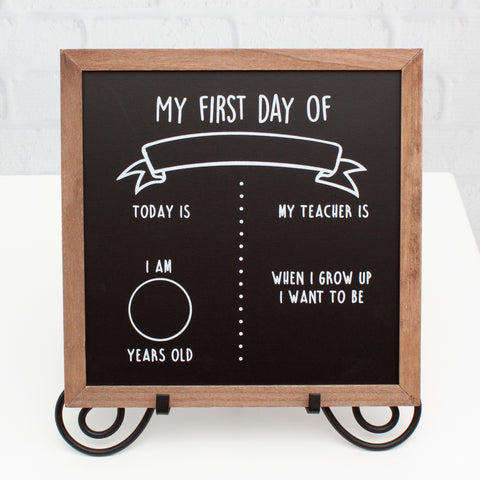 First Day/Last Day of School Reversible Chalkboard