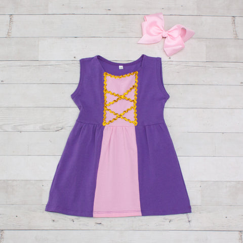 Girls Peasant Character Inspired Dress - Rapunzel (Tangled)
