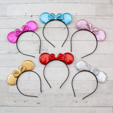 Shimmer Minnie Mouse Headband - 6 Colors