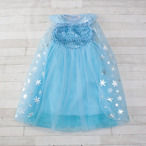 Character Inspired Princess Dress - Ice Blue & Silver