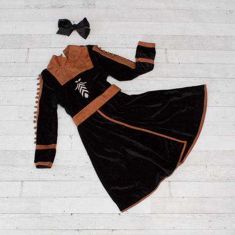 Character Inspired Princess Dress - Black & Brown