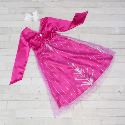 Character Inspired Princess Dress - Fuchsia Pink