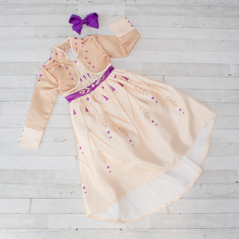 Character Inspired Princess Dress - Champagne