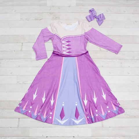 Character Inspired Princess Dress - Purple