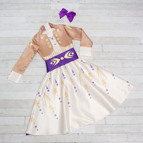 Character Inspired Princess Dress - Ivory & Gold