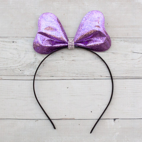Metallic Big Bow Headband - 5 Colors