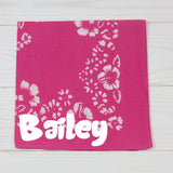 Hawaiian Floral Design Personalized Pet Bandana - 7 Colors