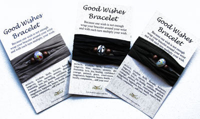 Good Wishes Pandora Like Bead Bracelet