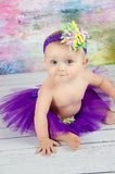 Purple & Pastel Korker Tutu Set - Tutu & Headband