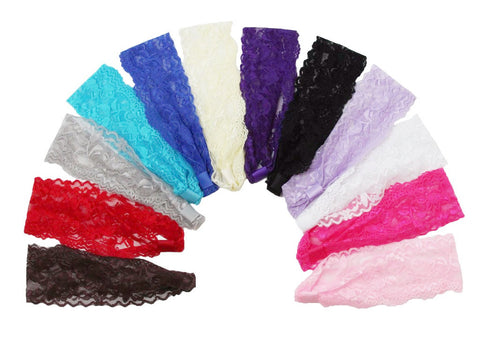 "2"" Lace Headbands - (Per Dozen)"