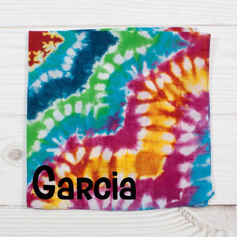Rainbow Tie Dye Personalized Pet Bandana - 4 Styles