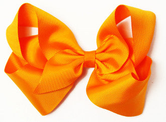 "6"" Grosgrain Boutique Hair Bow Clip"