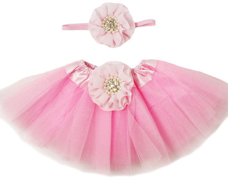 Light Pink Tutu Set - Tutu & Headband