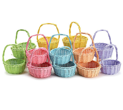 Spring Color Split Willow Easter Basket - Round or Oval