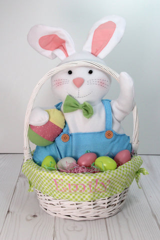 Gingham Lined Willow Easter Baskets