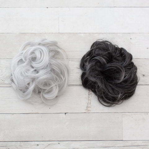 Messy Buns - Synthetic Hair Scrunchies - Gray Hair Colors