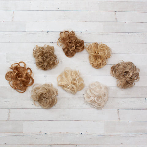Messy Buns - Synthetic Hair Scrunchies - Blonde/Light Hair Colors