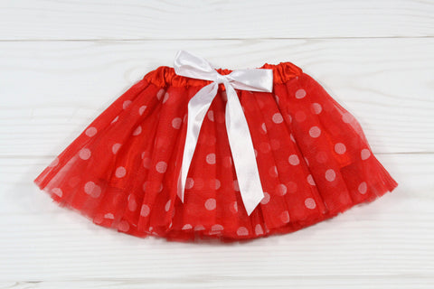 Infant Polka Dot Elastic Dance Tutu