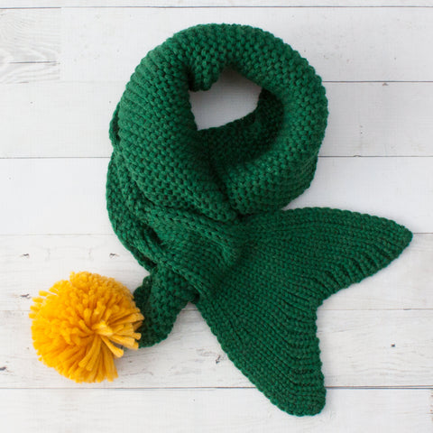 Kids Knit Mermaid Scarves