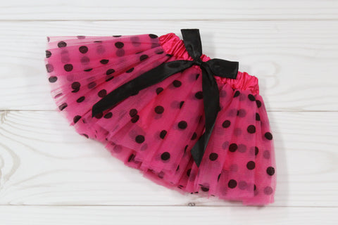 SALE Infant Polka Dot Elastic Dance Tutu