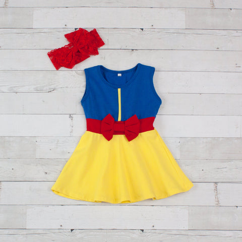 Girls Blue & Yellow Character Inspired Dress