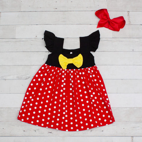 Red & White Polka Dot Character Inspired Dress