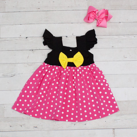 Pink & White Polka Dot Character Inspired Dress