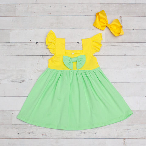 Pistachio & Yellow Character Inspired Dress