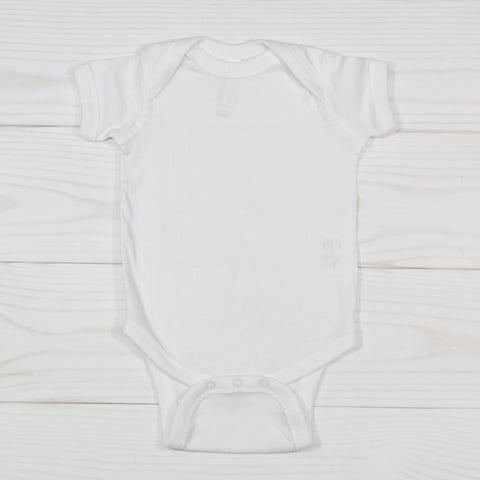 White Short Sleeve Cotton Bodysuit