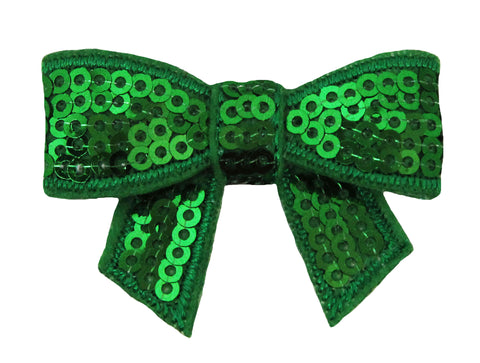 "2"" Sequin Bow or Hair Clip Set of 2"