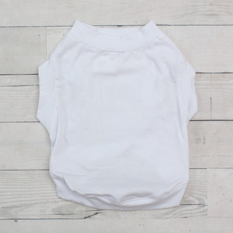 Short Sleeve Pet T-Shirt - White