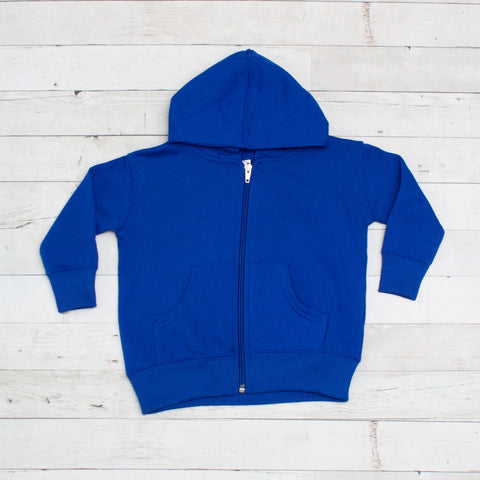 Unisex Colorful Toddler Full-Zip Fleece Hoodie - 8 Colors