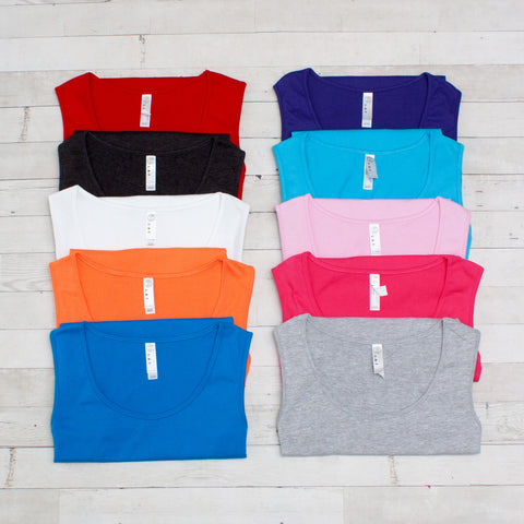Ladies Relaxed Classic Premium Jersey Tank - 10 Colors