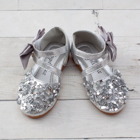 Toddler Girls Sparkle Dress Shoes - 3 Colors