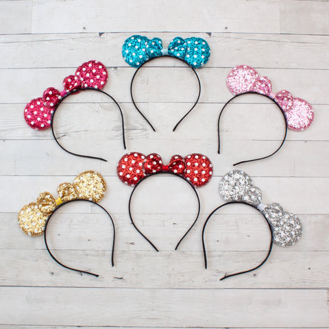Glitter Polka Dot Minnie Mouse Headband