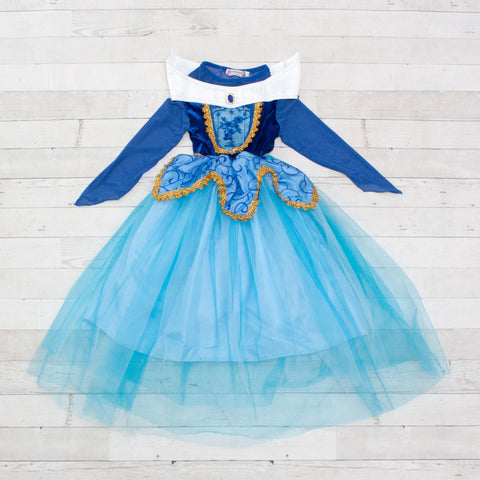 Character Inspired Princess Dress - Royal Blue & Turquoise