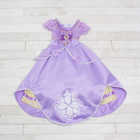 Character Inspired Princess Dress - Lavender, Yellow & White