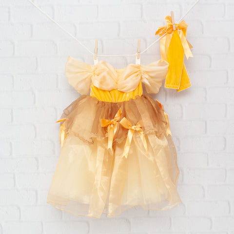 Character Inspired Princess Dress - Yellow & Gold