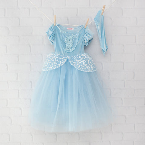 Character Inspired Princess Dress - Light Blue and White