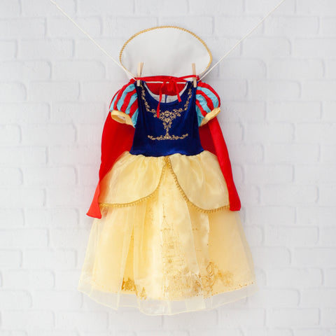 Character Inspired Princess Dress - Red, Royal Blue & Yellow