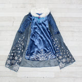 Character Inspired Princess Dress - Steel Blue and Silver