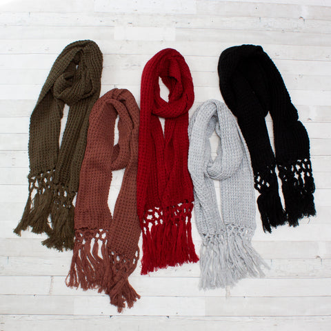 Women's Crochet Scarves - 5 Colors