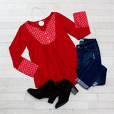 Polka Dot Peasant Tunic - 6 Colors