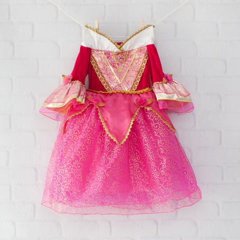 Character Inspired Princess Dress - Hot Pink and Gold