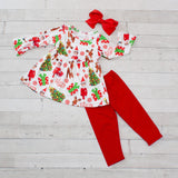 White & Red Elf on the Shelf 2 Piece Outfit
