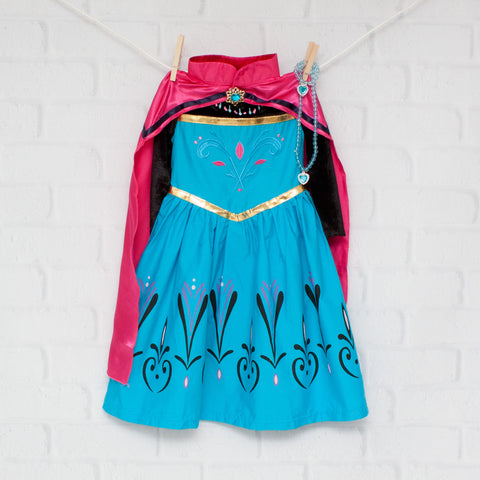 Character Inspired Princess Dress -  Turquoise & Pink