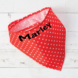 Polka Dot Personalized Pet Bandana with Snaps - 2 Colors